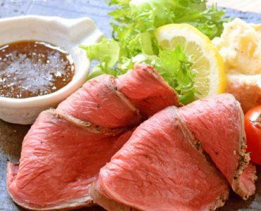 【アンガスビーフのローストビーフ】780円<br /> 赤身肉ブームの火付け役、絶品アンガスビーフ